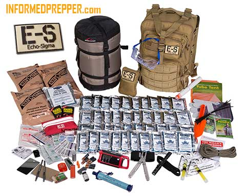 Bug out Bag example - Echo Sigma Bug Out Bags Complete Emergency Kit
