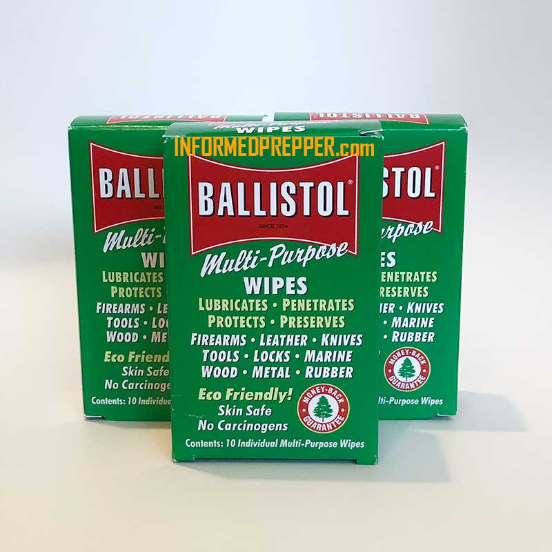 Ballistol Gun Cleaning Wipes Prevent Guns From Rusting