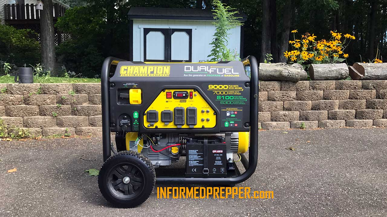 Picture of my CHAMPION 7000 WATT DUAL FUEL GENERATOR